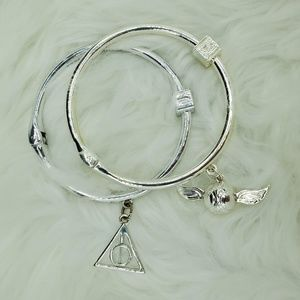 Snitch & Deathly Hallows Silver Plated Bangles